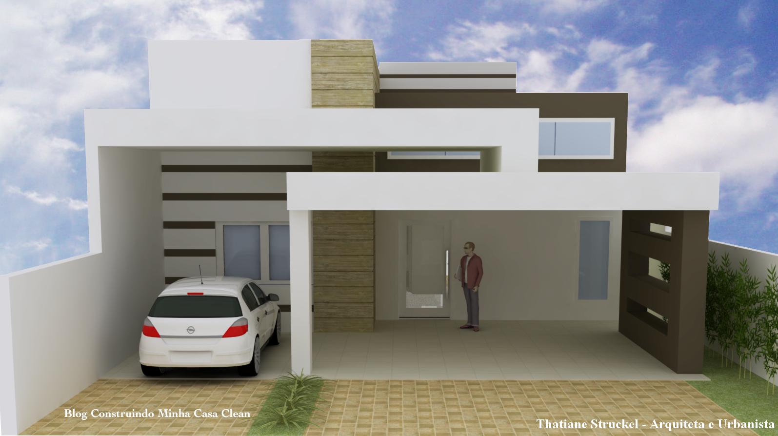 Construindo minha casa clean fachadas de casas com garagem for Jazzghost casas modernas 9