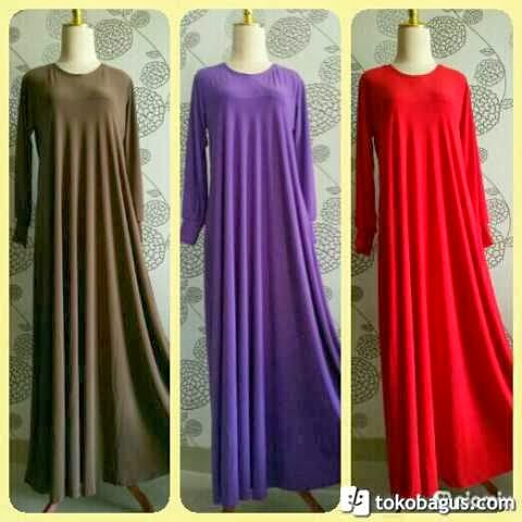 Gamis Jersey Umbrella Lily Dress