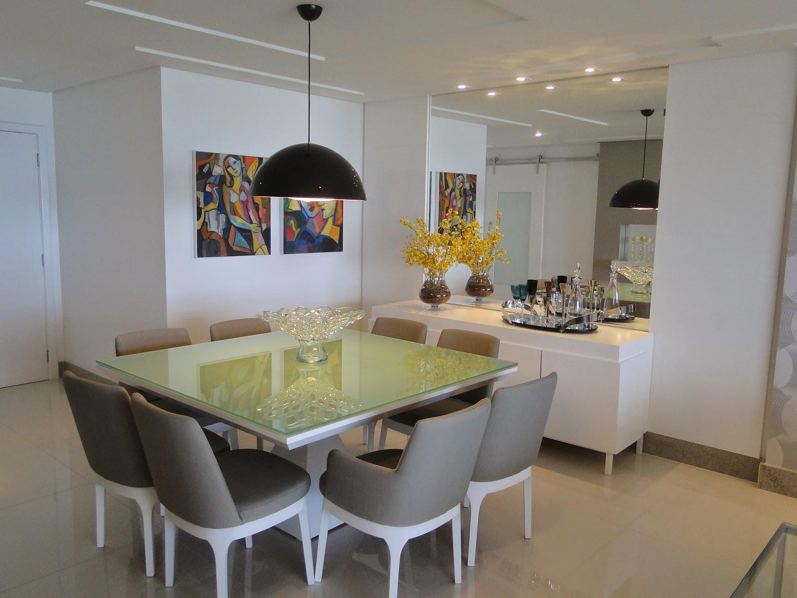Aparador Moderno Para Sala De Jantar Espelho Sobre Bancos Da Mesa  -> Aparador Para Sala D Jantar Aki