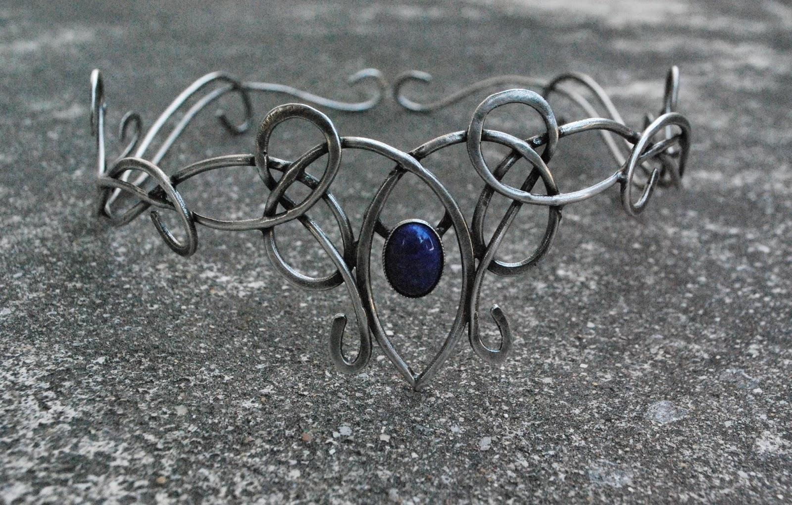 lapis-lazuli sur diadème personnalisé