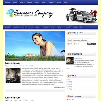 Insurance Company Blogger Template