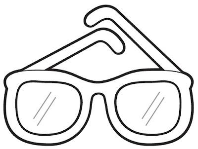 Desenho de Óculos para Colorir
