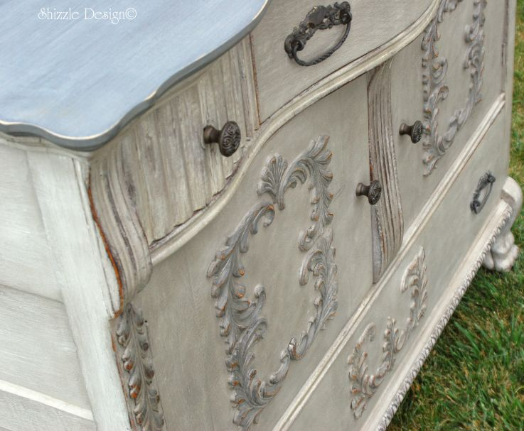 I am so honored to guest post for Karen Berg at Redoux Interiors today. Shizzle Design   Vintage Buffet Layered in Rich Color   One of my