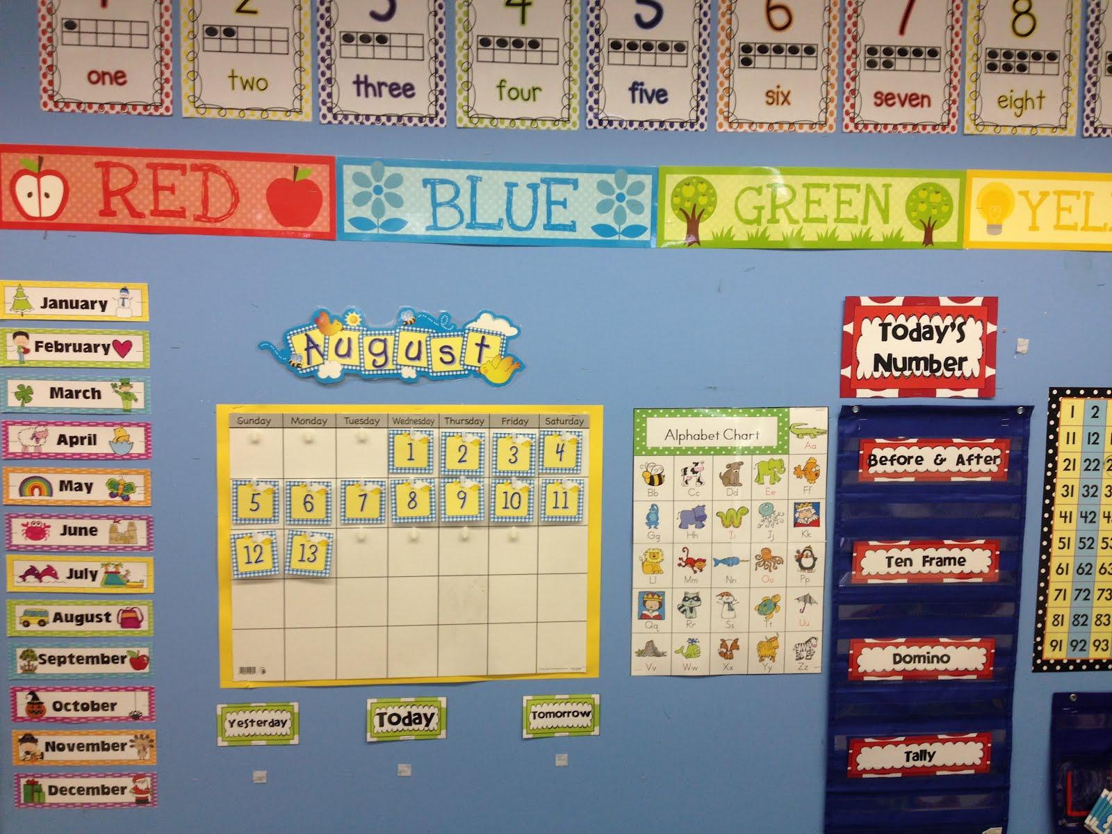 Calendar Design For Kindergarten : Kroger s kindergarten classroom pics and first day of