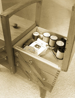 A beautiful wooden sewing box I brought at a snip from The Vintage Retreat.
