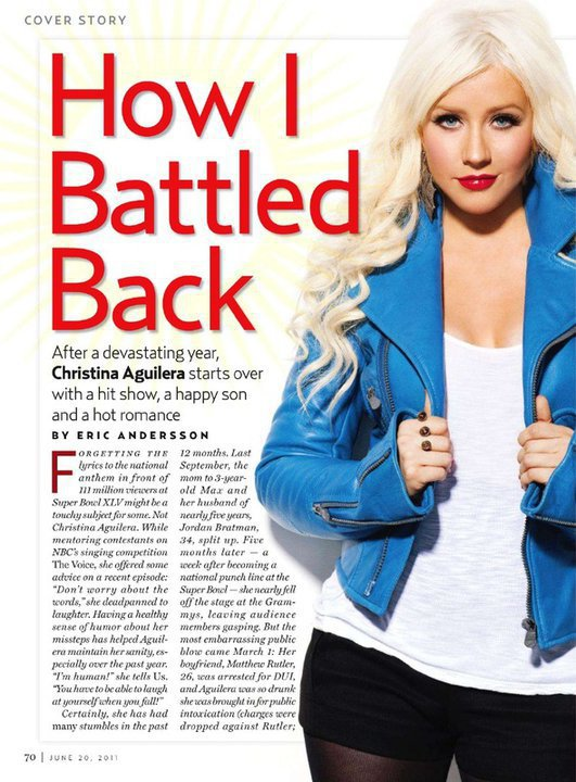 the voice christina aguilera june 7. Christina Aguilera on the