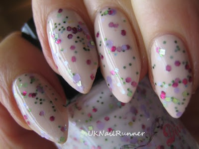 Darling Diva Polish Serendipity over Barry M Lychee