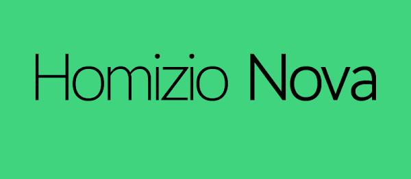 Font: Homizio Nova (Kişisel ve Ticari kullanım için ücretsiz)