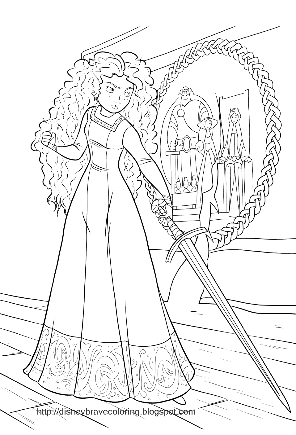meridas face coloring pages - photo#32