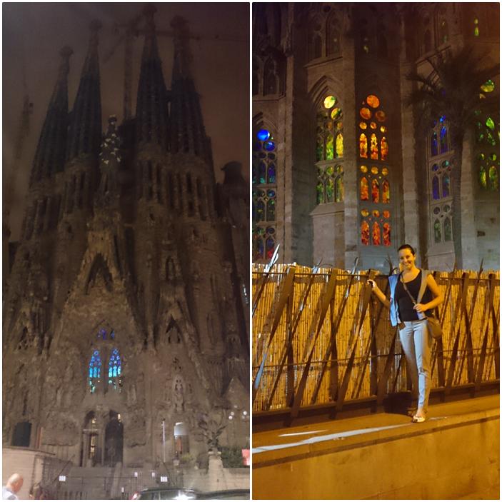 sagrada familia,nocne życie w barcelonie,espana,barca,witraż w sagrada familia,gaudi