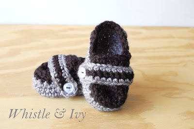 Baby and Toddler Boys Monk Strap Loafer Crochet Pattern