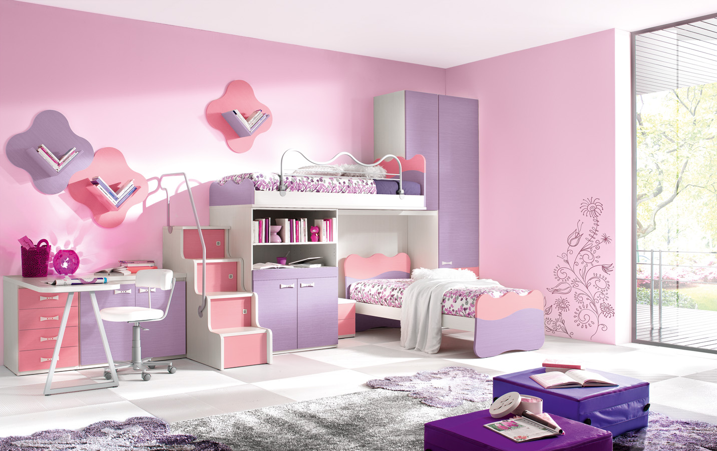 Girls Bedroom Ideas: The Orchid Touch