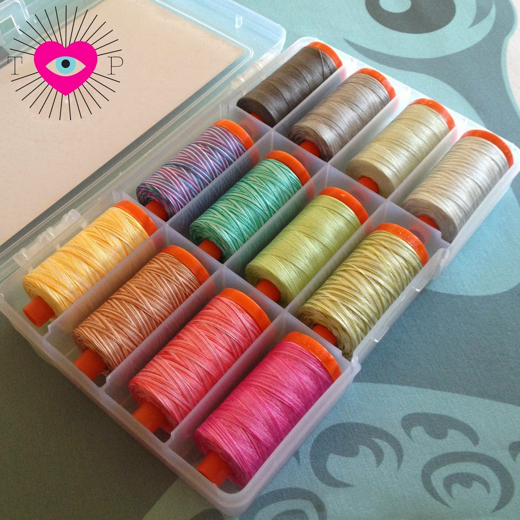 aurifil designer thread, tula pink