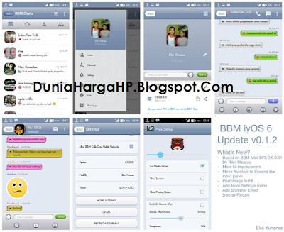 BBM iyOS 6 v0.1.2 Based BBM Mini BFS 2.9.0.51 clone