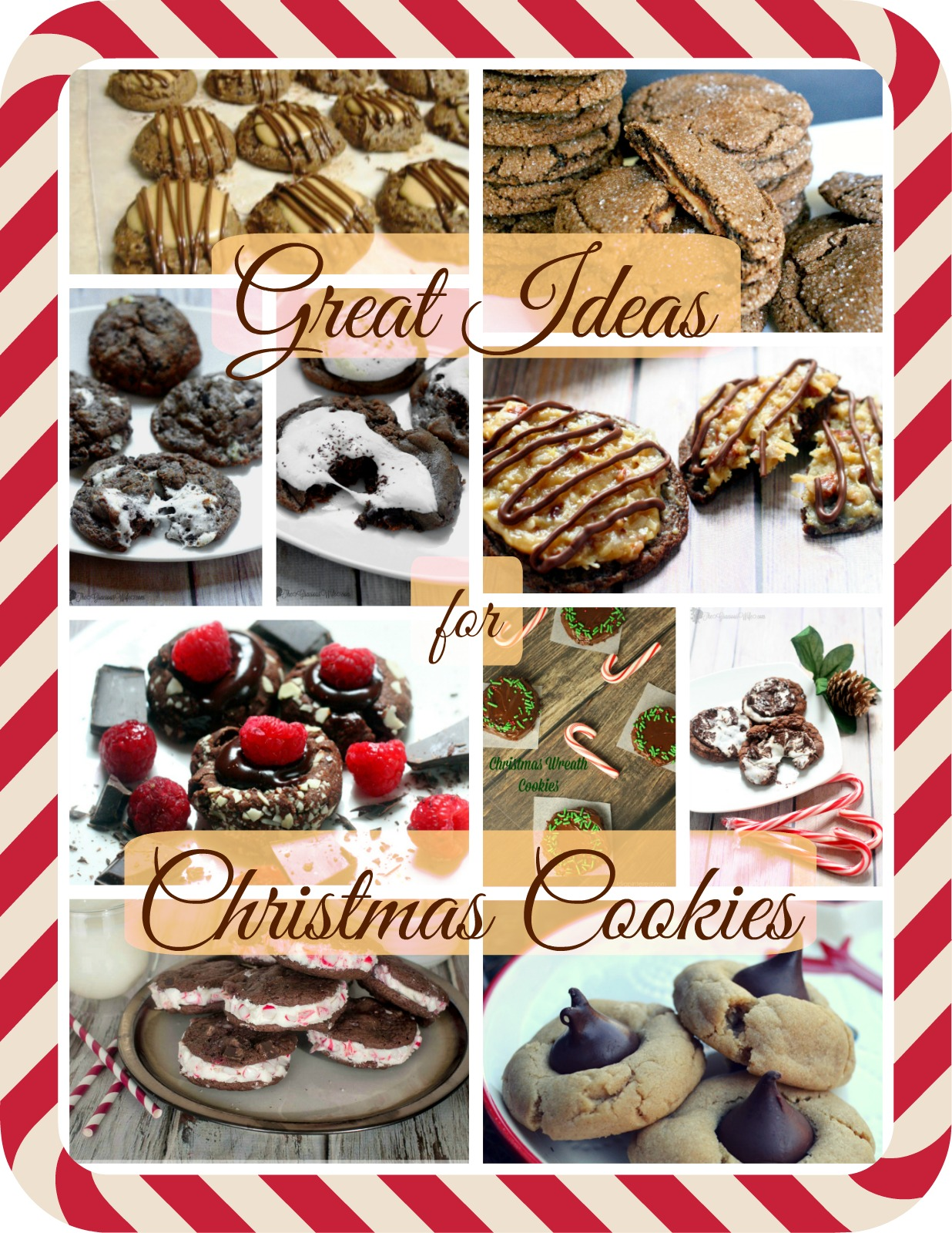Great Ideas for Christmas Cookies:  A Great Idea Thursdays round up of my favorite Christmas cookies