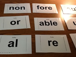 Prefix and Suffix Cards by Beth Simmons | Teachers Pay Teachers