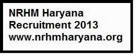 NRHM Haryana Recruitment 2013