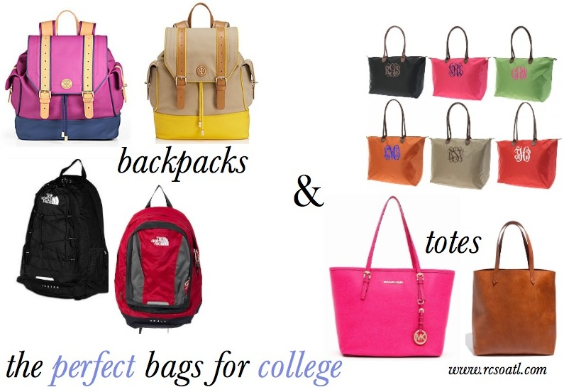 Real College Student of Atlanta: Backpacks vs. totes