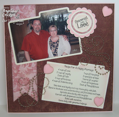 """ODBD """"Happy Marriage Recipe"""", """"Baking Tag Sentiments"""", """"Baking Gift Tags"""", """"Recipe Card and Tags Die Set"""" Designer Angie Crockett"""