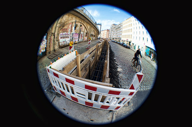 Baustelle Straßenbauarbeiten, Dircksenstraße, 10179 Berlin, 21.10.2013