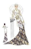 Desain Gambar Pola Kebaya Muslim Akad Nikah