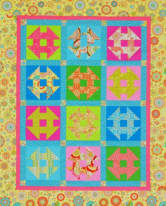 Quilt Inspiration Free Pattern Day Shoo Fly And Churn