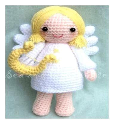 Angel Fish Amigurumi Pattern : Amigurumi Crochet Pattern-Angle Sea and lighthouse Dolls