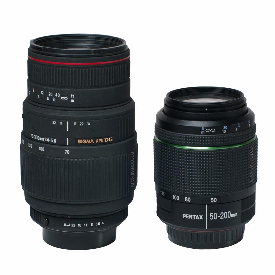 Sigma 70-300 mm f/4-5,6 APO DG MACRO i Pentax 50-200 mm WR