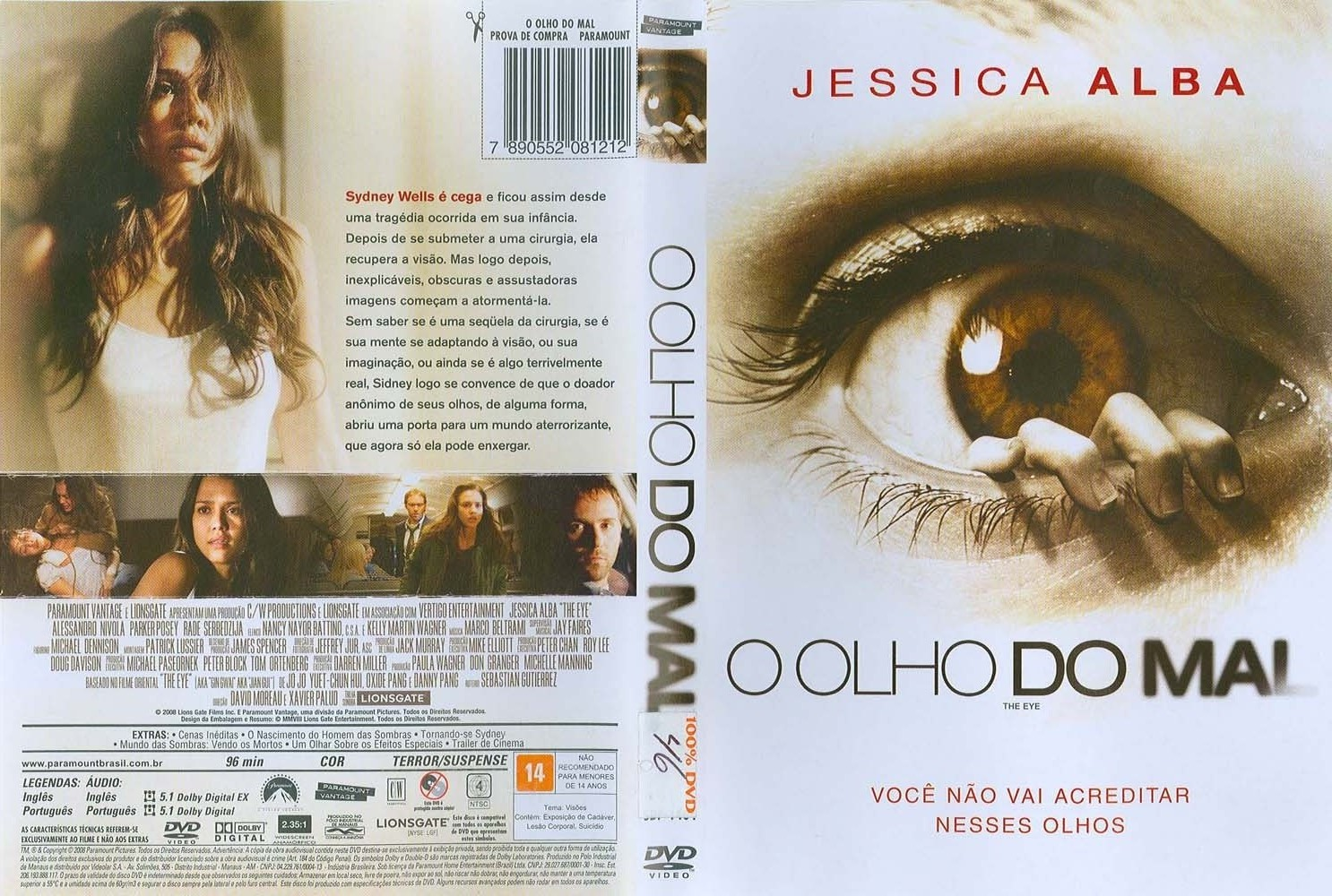 O Olho do Mal DVD Capa