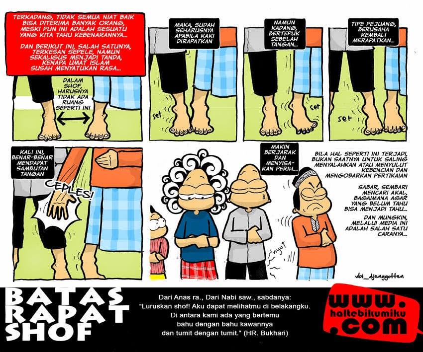 komik tentang shof sholat (haltebikumiku)