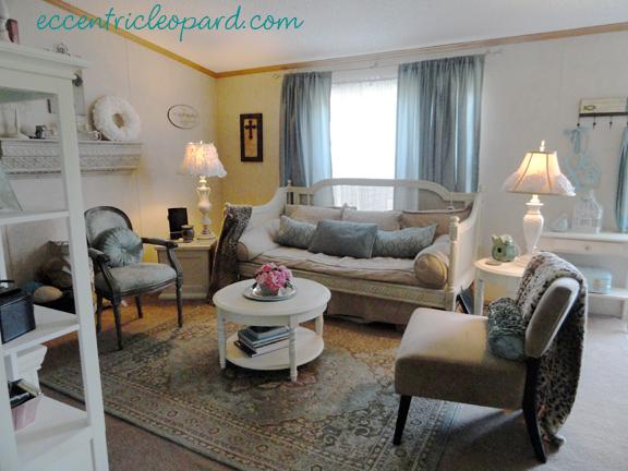 The Eccentric Leopard Living Room Redo