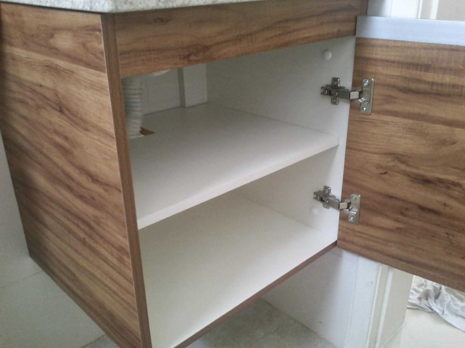 Armário para Banheiro (Padrão Amêndola Rústica) Porta em 18mm  #634E3C 1600x1200 Armario Banheiro Aluminio