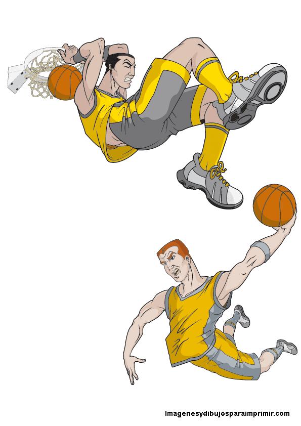Jugadores de baloncesto para imprimir