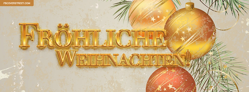 How to write merry christmas in germany
