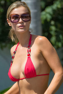 Joanna Krupa Red Bikini car wash Miami