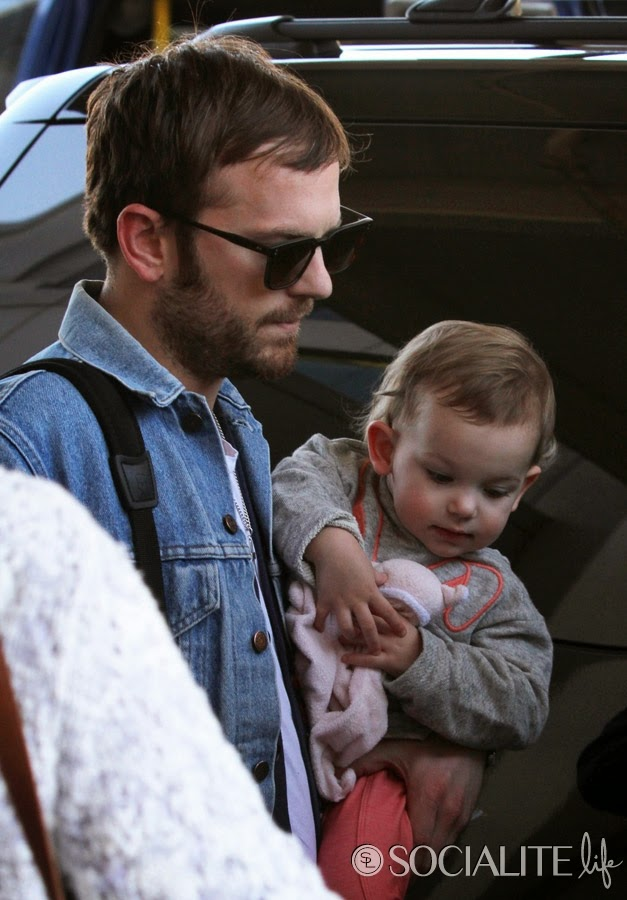 Caleb Followill and Lily Aldridge were spotted at LAXLily Aldridge And Caleb Followill 2014