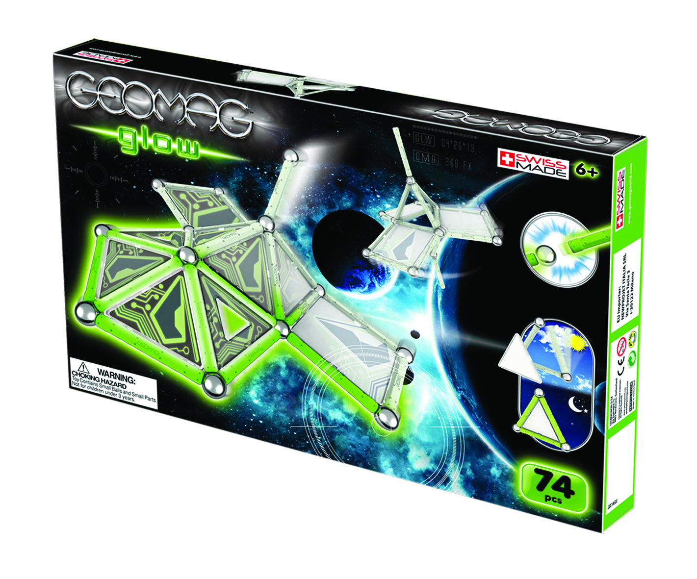 Ellenbray July 2011 Eco Tools 1332 Glow For It Create Geomag Shapes That Are Out Of This World With The Space In Dark 76 Piece Set