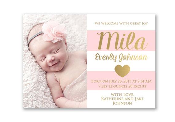 Etsy Birth Announcements – Birth Announcements Etsy