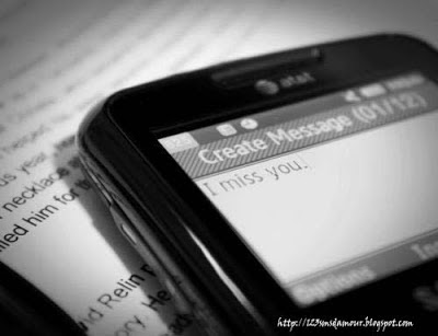 sms d amour manque