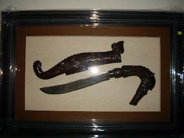 Parang Kuda Laut Berwafak Dalam Frame ( SOLD)