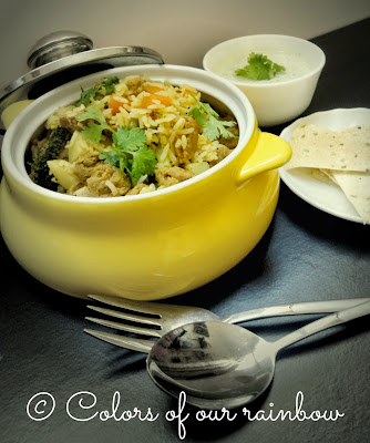 soya chunks veg biriyani preparation @colorsofourrainbow.blogspot.ae