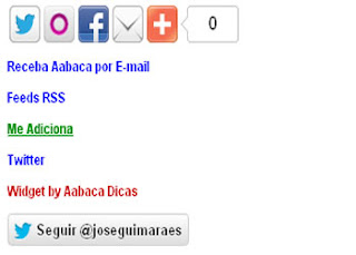como o widget lista de feeds aparece no blog