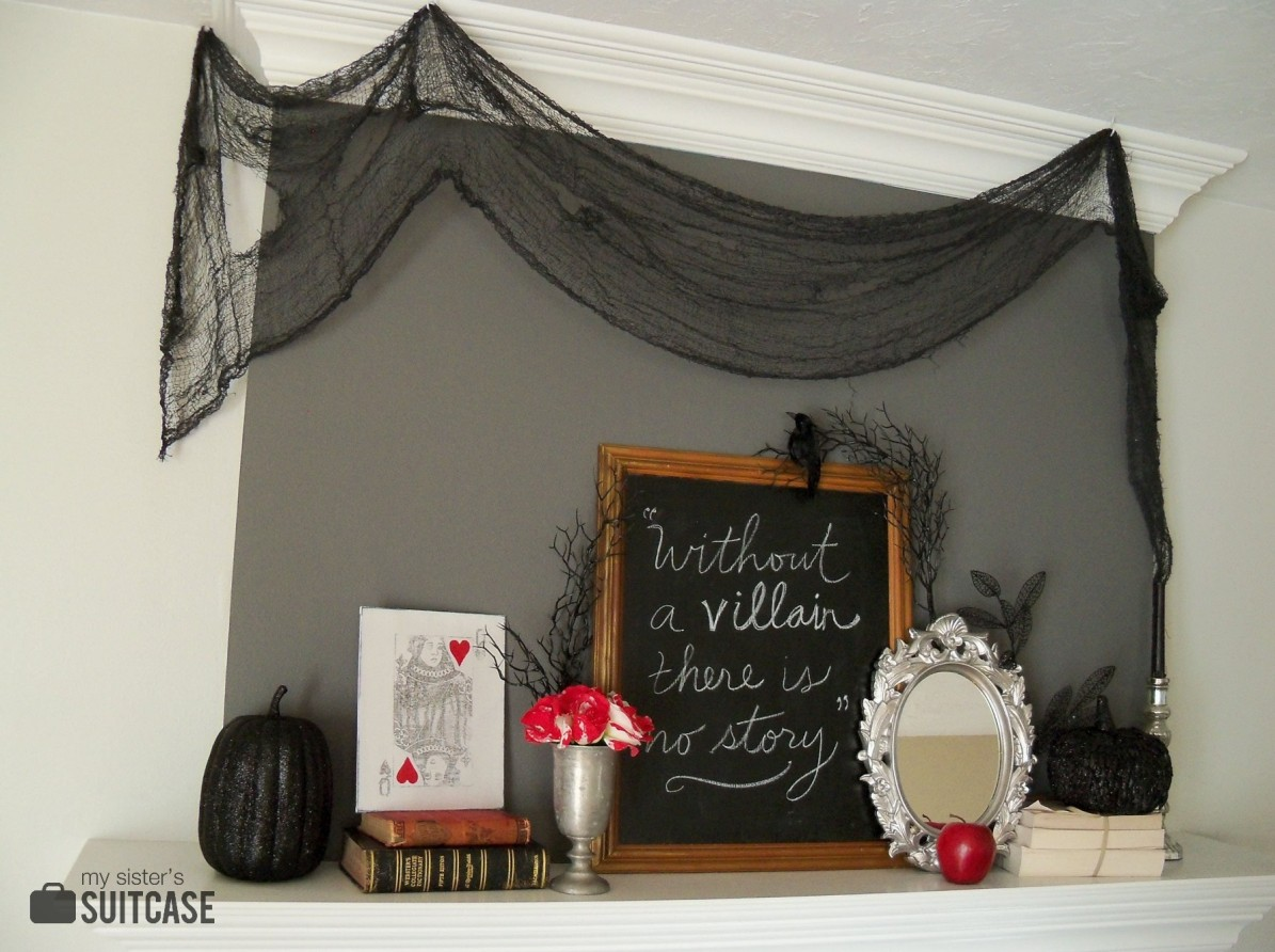 A Halloween Mantel inspired By My Favorite Villains