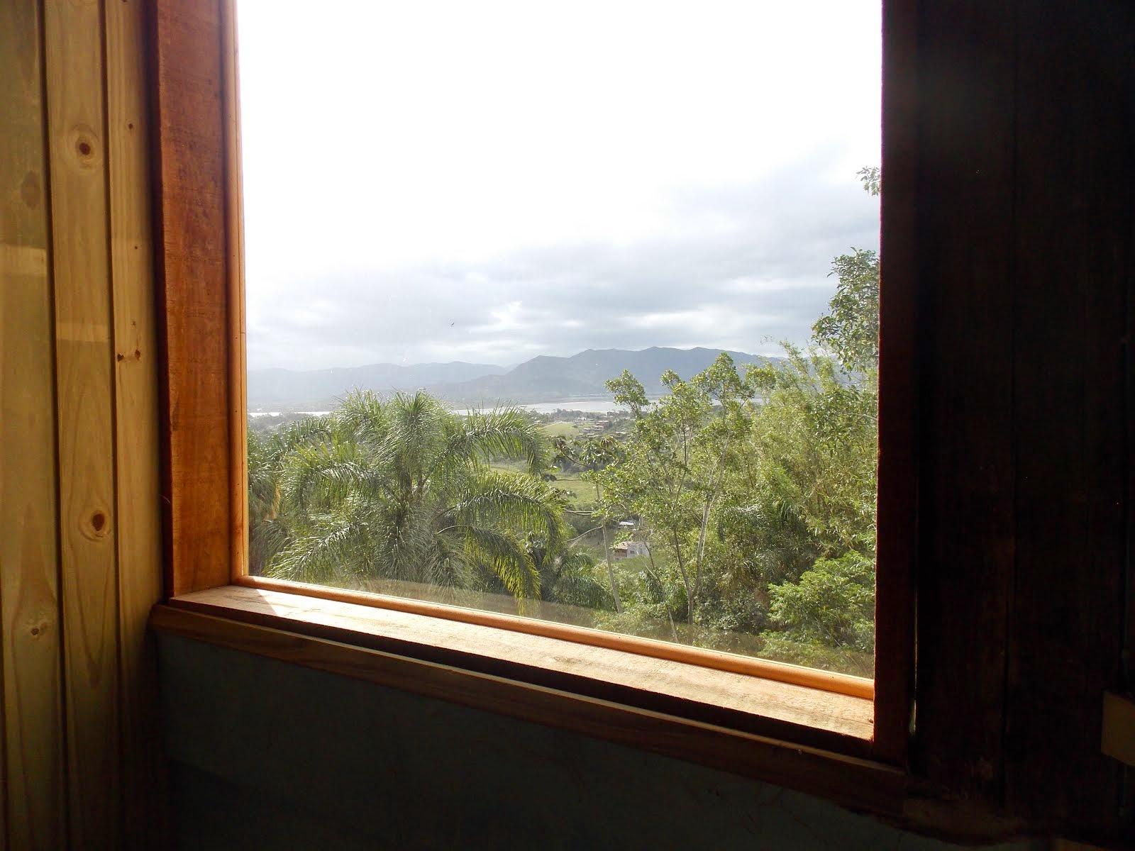 Vista da janela segundo piso cabana 4