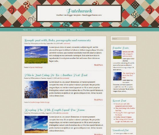 Patchwork Blogger Template