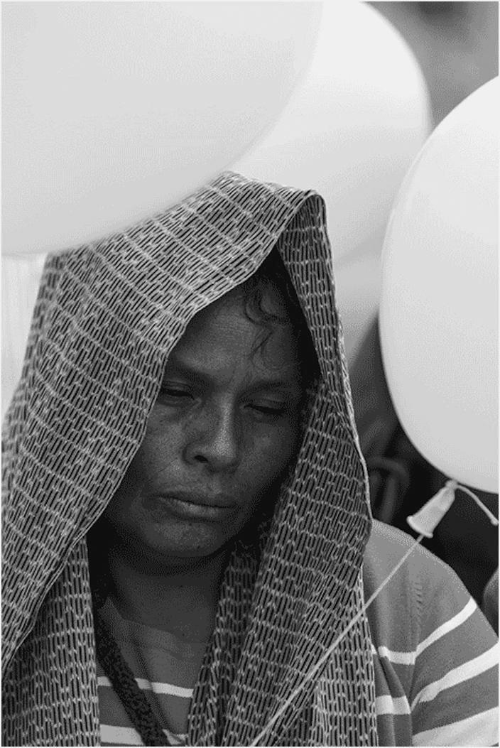 Elia Tamayo, madre del niño José Luis Tehuatlie Tamayo