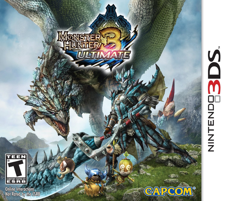 3DS Monster Hunter 3 Ultimate Cover