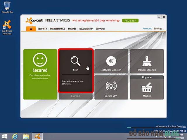 Phần mềm diệt virus miễn phí Avast Free Antivirus