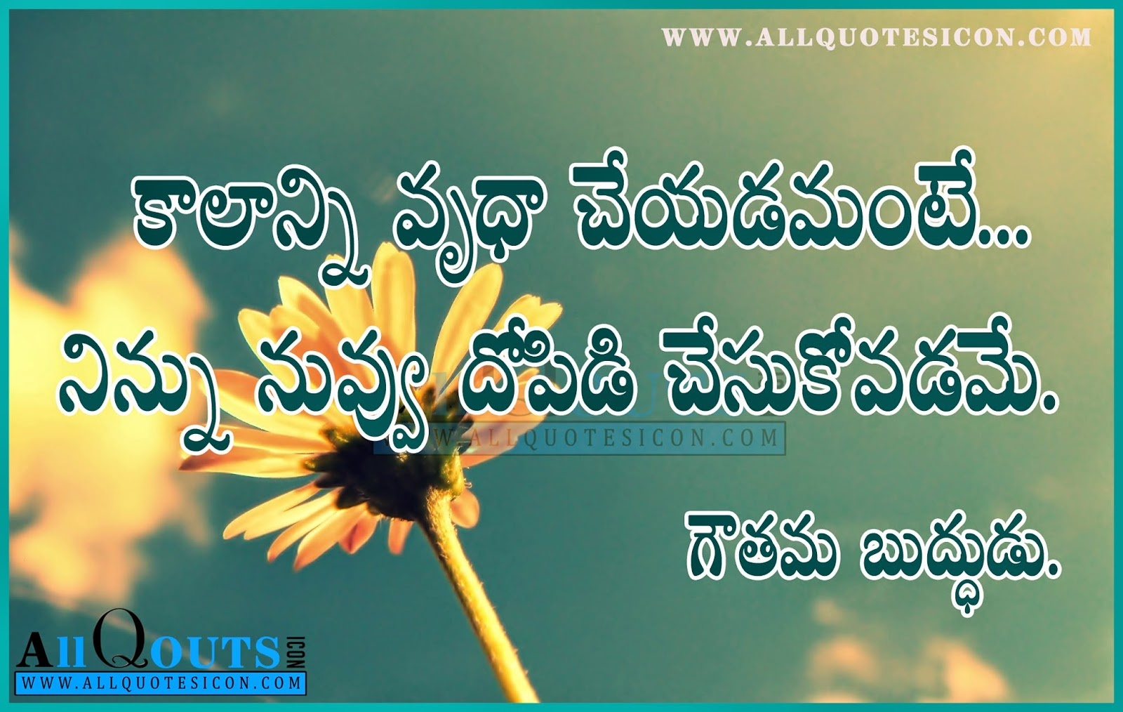 Goutama Buddha Quotes and Sayings in Telugu HD Wallpapers ...