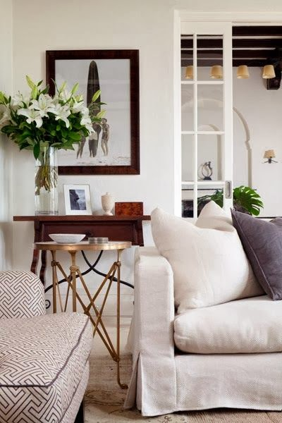 neutral cream and white living room